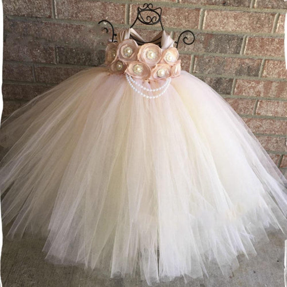 Handmade Blush Flower Girl Wedding Tutu Dress by Pick a Product