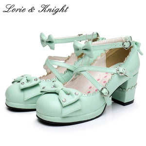 Harajuku Sweet Lolita Cosplay Chunky High Heel Shoes by Pick a Product