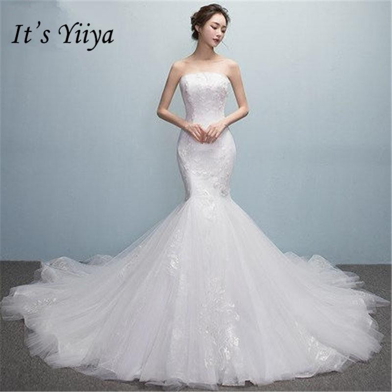 d8bba6ee6d256 It's YiiYa Sexy Strapless Trumpet Wedding Dresses by Pick a Product