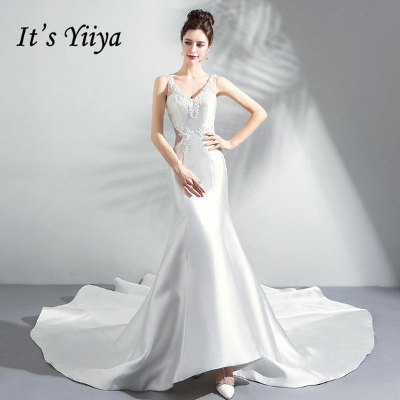 It's Yiiya Wedding Dress 2018 White Mermaid Trailing by Pick a Product