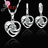 JEXXI Top Quality 925 Pure Original Silver Wedding Jewelry Set