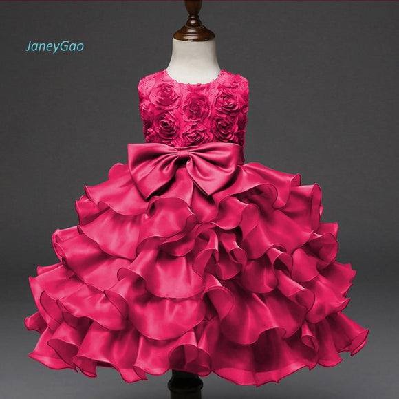 JaneyGao 2019 New Arrival Flower Girl Dress