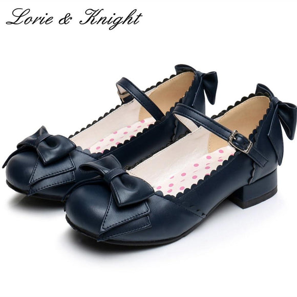 Black Low Heel Round Toe Mary Jane Tea Party Shoes by Pick a Product