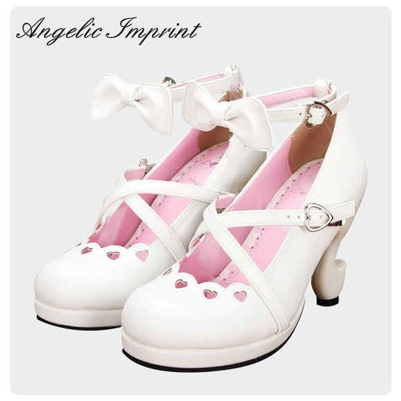 Sweet Lolita Criss Cross Straps High Heels by Pick a Product