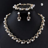 Jiayijiaduo Hot Imitation Pearl Wedding Necklace Earring Sets Bridal Jewelry Sets
