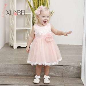 Knee Length Cute Lace Flower Girl Dress - little-darling-fashion-online
