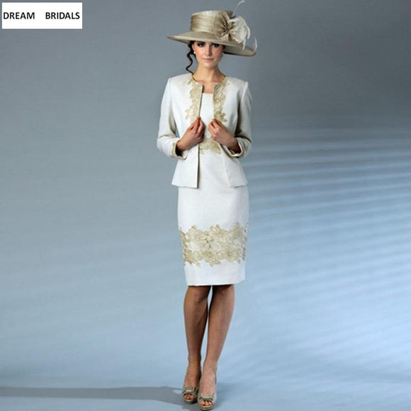 Knee Length Mother Of The Bride Dresses With Jacket