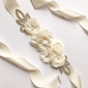 Kyunovia Wedding Accessories Bridal Belts - little-darling-fashion-online