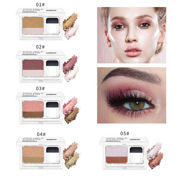 LAIKOU Double Color Eyeshadow Palette - little-darling-fashion-online