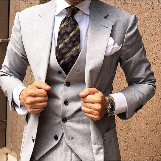 Latest Coat Pant Designs Light Grey Men Suit Slim by Pick a Product