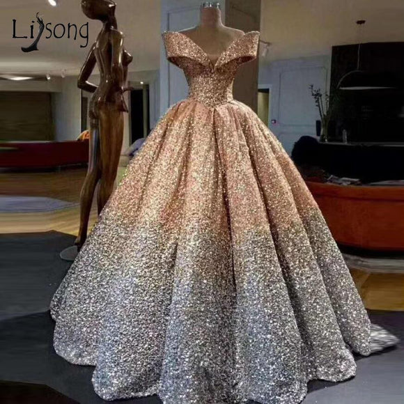 Lebanon Luxury Prom Gowns Shiny Mix Sequined Dress by Pick a Product