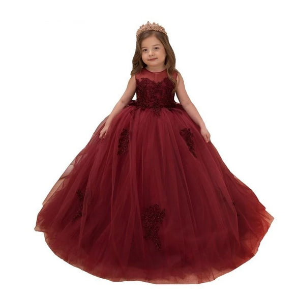 Lovely Burgundy Flower Girl Dresses