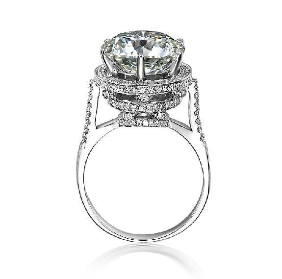 Luxury 5CT Design Vintage antique NSCD Simulate Diamond Ring