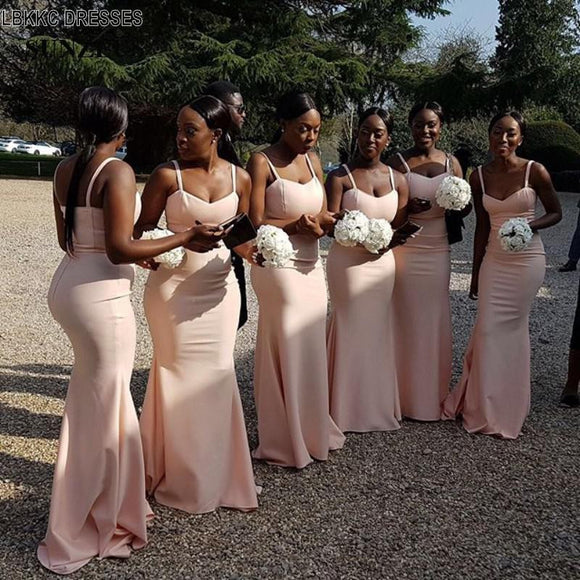 Mermaid Pink Bridesmaid Dresses