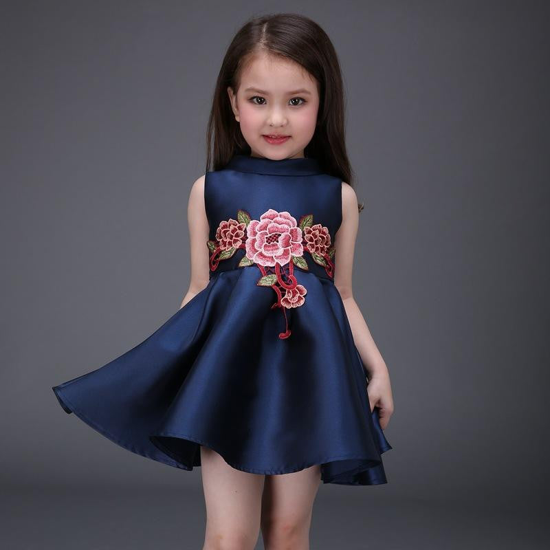 6930624a4d ... Nacolleo Newest Girl Dress Brand Kids Clothes Spring Summer Children Clothing  Girls Clothes Navy Blue Baby ...