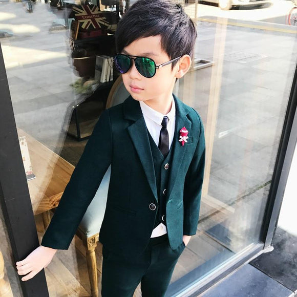 New Arrival Fashion Boys Kids 3PCS Blazers Wedding - little-darling-fashion-online