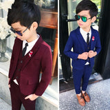 New Arrival Fashion Boys Kids 3PCS Blazers Wedding Boy Suits Infantil Costume Children Wedding Suits Clothing 3-10T