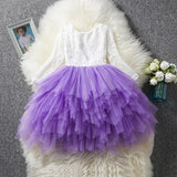 Purple Lace Tiered Flower Girl Dress (3-8 Years) by Pick a Product
