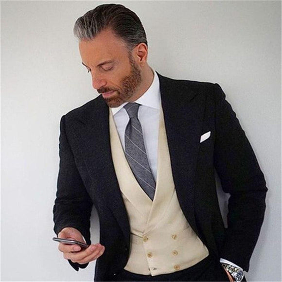 New Fashion Handsome Dark Gray Mens Suit by Pick a Product