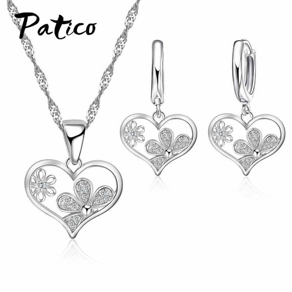 PATICO 925 Sterling Silver Austrian Crystal Jewelry Sets