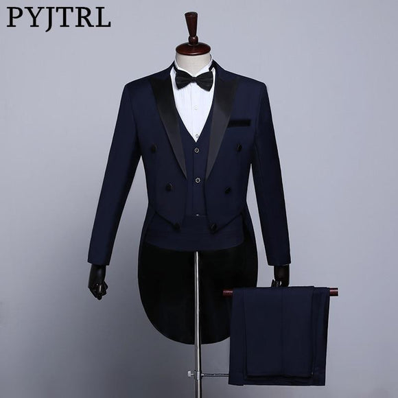 Men Classic Black/White/Navy Tailcoat Tuxedo by Pick a Product