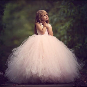 Pink Ankle Length Flower Girl Dress by Pick a Product