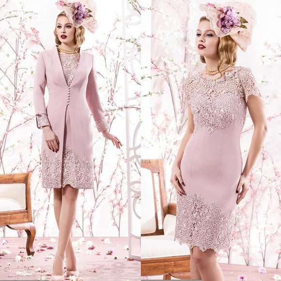 Pink Lace Mother of the Bride Dress with Jacket by Pick a Product