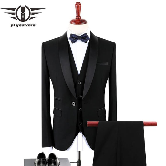 Classic Men's Black 2/3 Piece Slim Fit Suit by Pick a Product