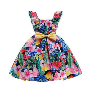 Pretty Ball Gown Flower Girl Dresses 2018 Cutton Dresses For Girls Printed Kids Prom Dresses vestidos infantil de festa - little-darling-fashion-online