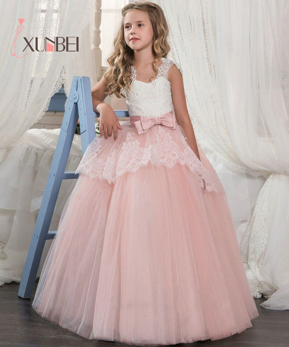 Princess Pink Mint Green Lace Flower Girl Dresses by Pick a Product