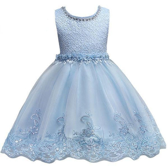 Cute Princess Appliqued Flower Girl Dress by Pick a Product