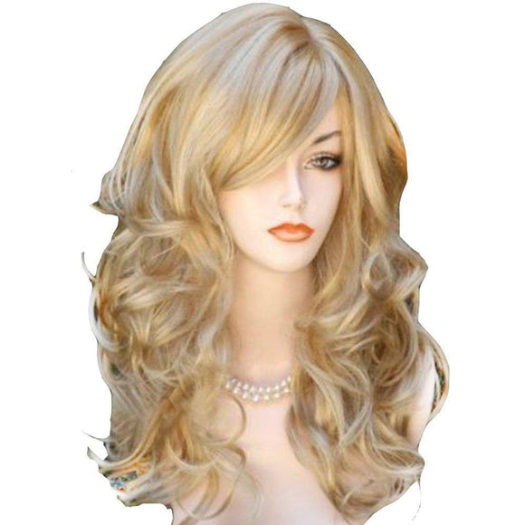 Long Wavy Natural Blonde 60 Cm Synthetic Wigs by Pick a Product