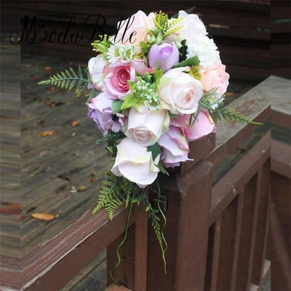 Ramos De Novia Pink Purple Cheap Wedding Bouquets By Pick A