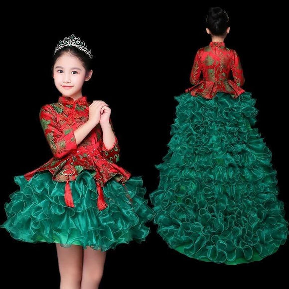 Red Green Flower Girl Dresses for Weddings by Pick a Product
