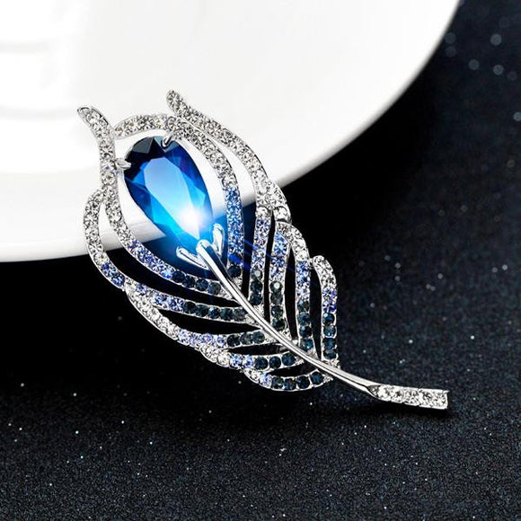 Women Blue Rhinestone Fashion Handmade Brooch by Pick a Product