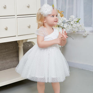 Robe mariage enfant White Flower Girl Dresses 2018 Tulle Girls Pageant Dresses First Communion Dresses Kids Evening Party Gown - little-darling-fashion-online