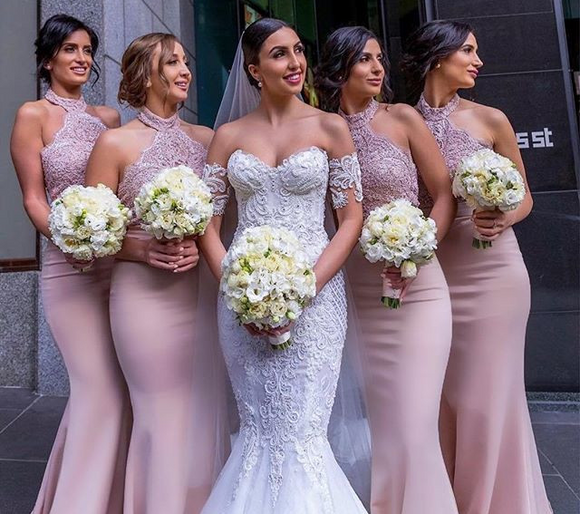 Robe demoiselle d'honneur Mermaid Bridesmaid Dresses