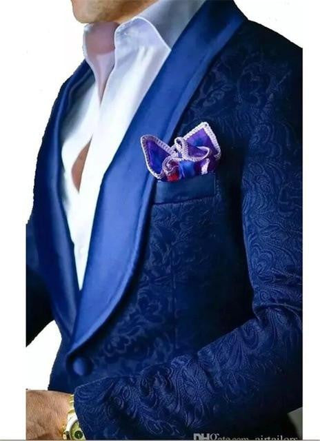 Royal Blue Men 2 Piece Suits for Wedding by Pick a Product