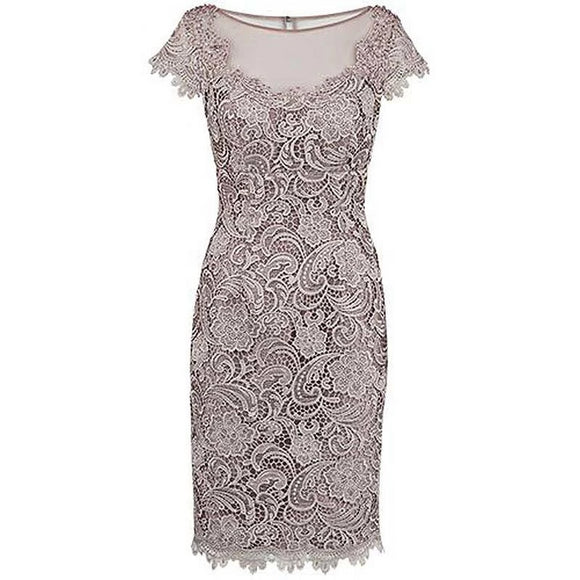 Sheath Beading Grey Lace Mother Of The Bride Dress by Pick a Product