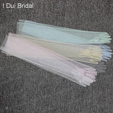 Sheer Tulle Gloves Wedding Bridal Gloves Elbow Long 9 Color Photo Shooting Accessory - little-darling-fashion-online