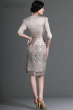 Short Elegant Half Sleeve Lace Mother of Bride Dress by PickAProduct