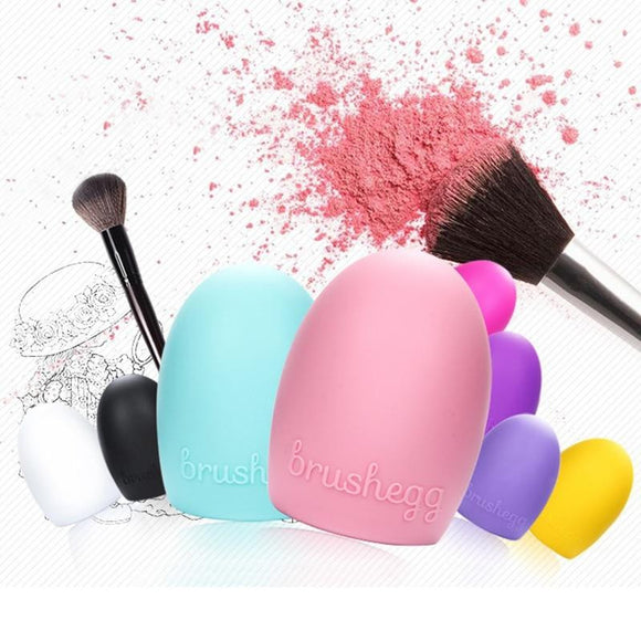 Silicone Makeup Brush Egg Cleaning Washing Tools - little-darling-fashion-online