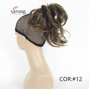 Silver 10-12inch Short Natural Wave Ponytail Hair Extension With Claw Clip In Hairpiece COLOUR CHOICES