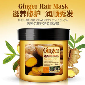 Steam-Free Ginger Hair Mask for Dry Damaged Hair - little-darling-fashion-online