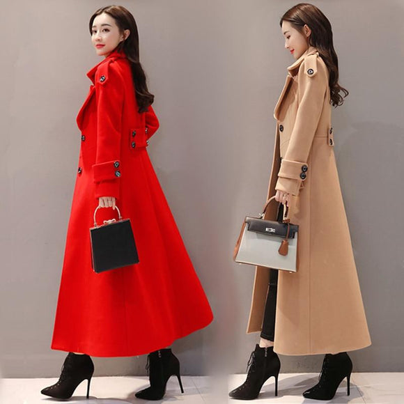 Stylish Autumn And Winter Women's Trench Coat by Pick a Product