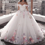 Handmade Flowers Ball Gown Wedding Dress 2019 by Pick a Product