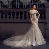 Sweetheart Mermaid Lace-Up Appliques Wedding Dress by Pick a Product