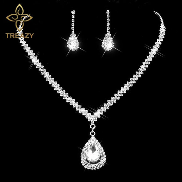 Diamante Crystal Rhinestone Bridal Jewelry Set