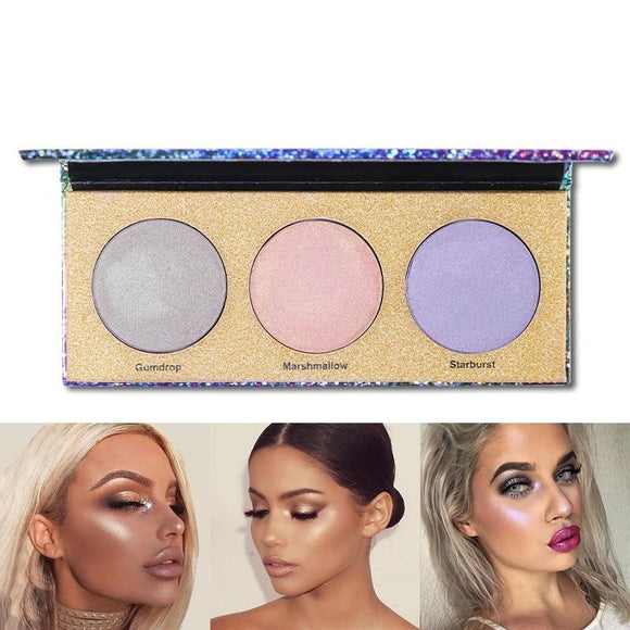 USA Warehouse 3 Colors Chameleon Highlighter Palette by Pick a Product