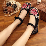 Vintage Embroidery Women Floral Flat Soft Shoes by Pick a Product